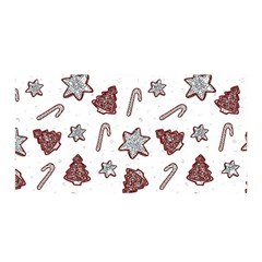 Ginger Cookies Christmas Pattern Satin Wrap