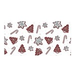 Ginger cookies Christmas pattern Satin Wrap Front