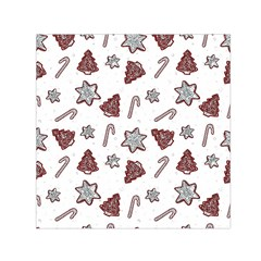 Ginger Cookies Christmas Pattern Small Satin Scarf (square)