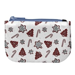 Ginger Cookies Christmas Pattern Large Coin Purse