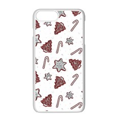Ginger Cookies Christmas Pattern Apple Iphone 7 Plus White Seamless Case