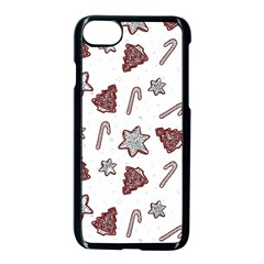 Ginger Cookies Christmas Pattern Apple Iphone 7 Seamless Case (black)
