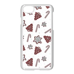 Ginger Cookies Christmas Pattern Apple Iphone 7 Seamless Case (white)