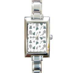 Ginger Cookies Christmas Pattern Rectangle Italian Charm Watch