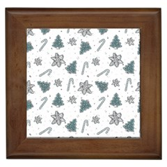Ginger Cookies Christmas Pattern Framed Tiles