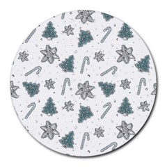 Ginger Cookies Christmas Pattern Round Mousepads