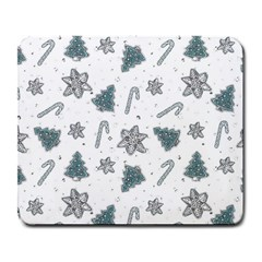 Ginger Cookies Christmas Pattern Large Mousepads