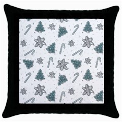 Ginger Cookies Christmas Pattern Throw Pillow Case (black)