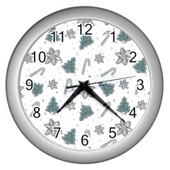 Ginger Cookies Christmas Pattern Wall Clocks (silver)