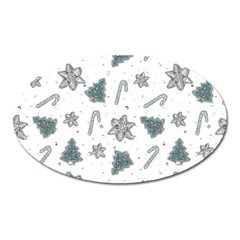 Ginger Cookies Christmas Pattern Oval Magnet