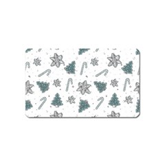 Ginger Cookies Christmas Pattern Magnet (name Card)