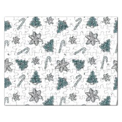 Ginger Cookies Christmas Pattern Rectangular Jigsaw Puzzl