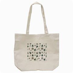 Ginger Cookies Christmas Pattern Tote Bag (cream)