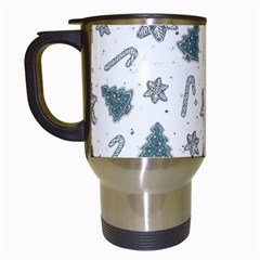 Ginger Cookies Christmas Pattern Travel Mugs (white)