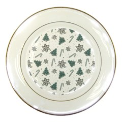 Ginger Cookies Christmas Pattern Porcelain Plates