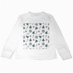 Ginger Cookies Christmas Pattern Kids Long Sleeve T Shirts
