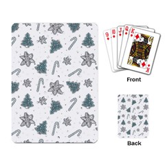 Ginger Cookies Christmas Pattern Playing Card