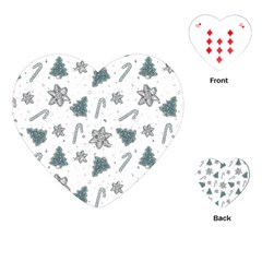 Ginger Cookies Christmas Pattern Playing Cards (heart)