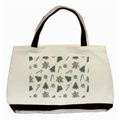 Ginger Cookies Christmas Pattern Basic Tote Bag