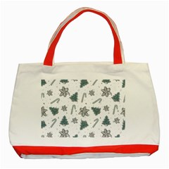 Ginger Cookies Christmas Pattern Classic Tote Bag (red)