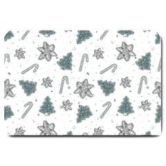 Ginger Cookies Christmas Pattern Large Doormat