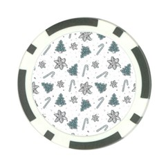 Ginger Cookies Christmas Pattern Poker Chip Card Guard