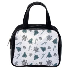 Ginger Cookies Christmas Pattern Classic Handbags (one Side)