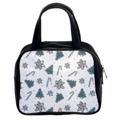 Ginger Cookies Christmas Pattern Classic Handbags (2 Sides)