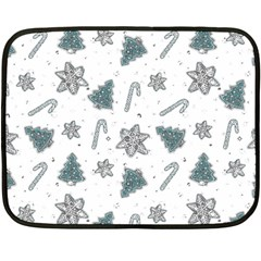 Ginger Cookies Christmas Pattern Fleece Blanket (mini)
