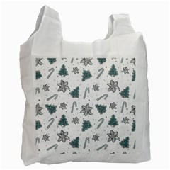 Ginger Cookies Christmas Pattern Recycle Bag (one Side)