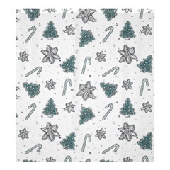 Ginger Cookies Christmas Pattern Shower Curtain 66  X 72  (large)