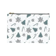 Ginger Cookies Christmas Pattern Cosmetic Bag (large)