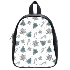 Ginger Cookies Christmas Pattern School Bag (small)