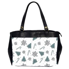 Ginger Cookies Christmas Pattern Office Handbags (2 Sides)