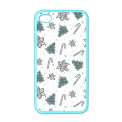 Ginger Cookies Christmas Pattern Apple Iphone 4 Case (color)