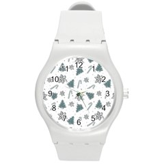 Ginger Cookies Christmas Pattern Round Plastic Sport Watch (m)