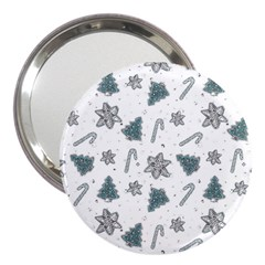 Ginger Cookies Christmas Pattern 3  Handbag Mirrors