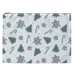 Ginger Cookies Christmas Pattern Cosmetic Bag (xxl)