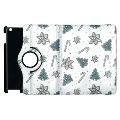 Ginger Cookies Christmas Pattern Apple Ipad 2 Flip 360 Case