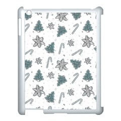 Ginger Cookies Christmas Pattern Apple Ipad 3/4 Case (white)
