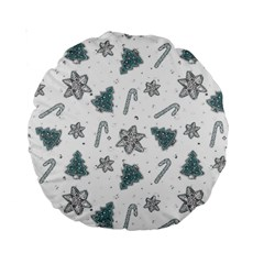 Ginger Cookies Christmas Pattern Standard 15  Premium Round Cushions