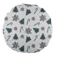 Ginger Cookies Christmas Pattern Large 18  Premium Round Cushions