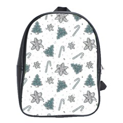 Ginger Cookies Christmas Pattern School Bag (xl)