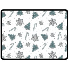Ginger Cookies Christmas Pattern Double Sided Fleece Blanket (large)