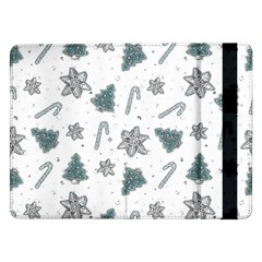 Ginger Cookies Christmas Pattern Samsung Galaxy Tab Pro 12 2  Flip Case