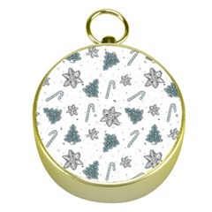 Ginger Cookies Christmas Pattern Gold Compasses
