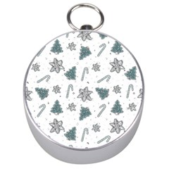 Ginger Cookies Christmas Pattern Silver Compasses