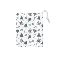 Ginger Cookies Christmas Pattern Drawstring Pouches (small)