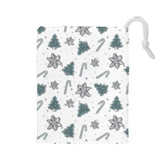 Ginger Cookies Christmas Pattern Drawstring Pouches (large)