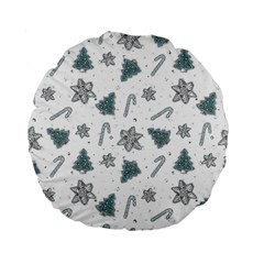 Ginger Cookies Christmas Pattern Standard 15  Premium Flano Round Cushions